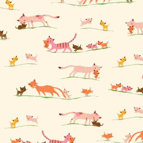 Windham Fabrics - Morning Cats Cream - 20th Anniversary - By Heather Ross