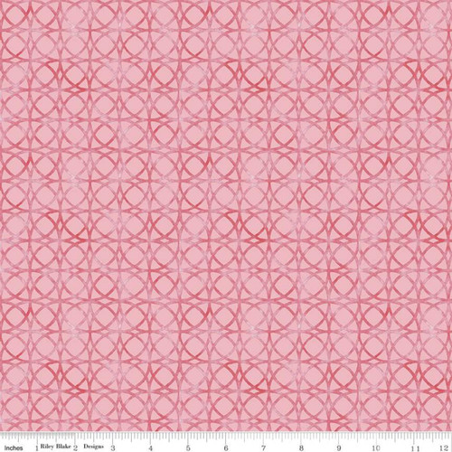 Riley Blake Fabrics - Circles Pink - Glohaven - Lila Tueller