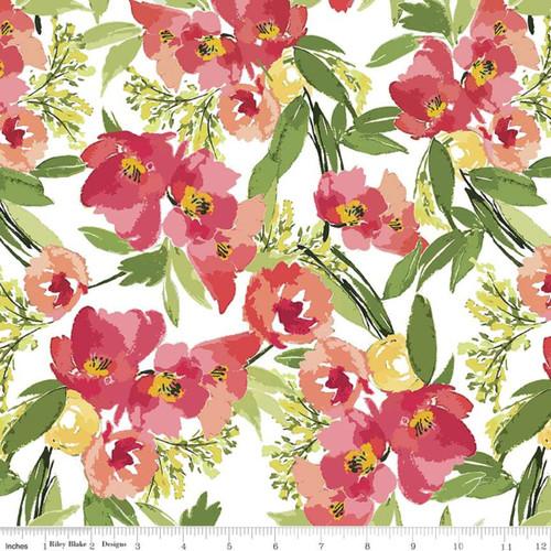 Riley Blake Fabrics - Main White - Glohaven - Lila Tueller