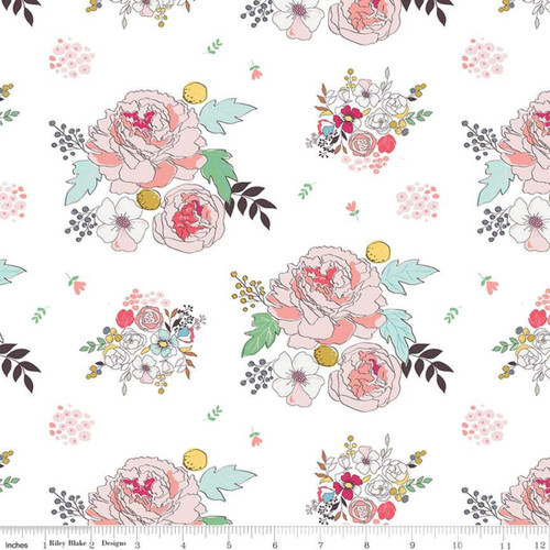 Riley Blake Fabrics - Main Cream - Idyllic - Minki Kim