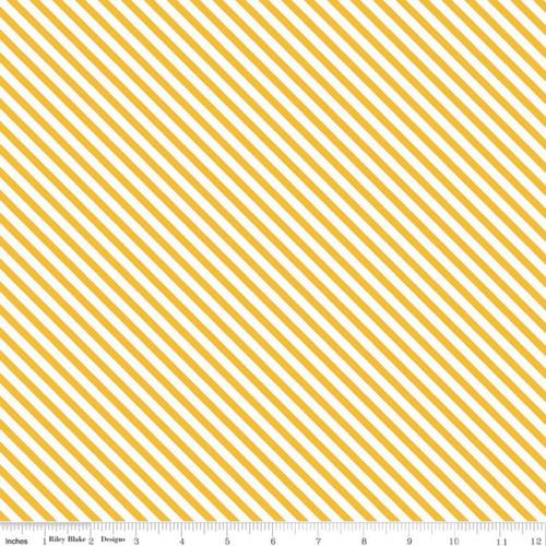 Riley Blake Fabrics - Stripes Mustard - Idyllic - Minki Kim