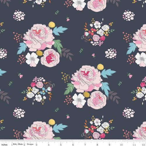 Riley Blake Fabrics - Main Navy - Idyllic - Minki Kim