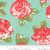 Moda Fabrics - Blooms Aqua- Early Bird - Bonnie & Camille - WIDE BACK