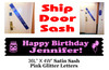 Cruise Door Sash with glitter letters - Birthday Pink