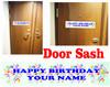 Cruise cabin custom door sash - Birthday 005