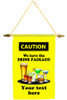 Cruise Ship Door Banner -  available in 3 sizes.     Caution