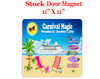 "Cruise Ship Door Magnet - 11"" x 11"" - STOCK design only for the Carnival Magic November cruise"