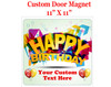 """Cruise Ship Door Magnet - 11"""" x 11"""" -  Customized  with your text -Birthday 007"""