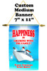 Cruise Ship Door Banner -  available in 3 sizes.    Custom with your text!  -happiness
