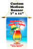 Cruise Ship Door Banner -  available in 3 sizes.    Custom with your text!  - sipping