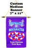 Cruise Ship Door Banner -  available in 3 sizes.    Custom with your text!  - soulmates
