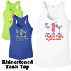 Rhinestone theme tank top. Ladies' tank top with rhinestone design - 009
