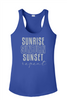 Beach - Cruising  theme tank top.  Ladies' tank top with soft vinyl lettering