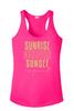 Beach - Cruising  theme tank top.  Ladies' tank top with soft vinyl lettering
