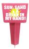 Beach - Sand Spiker.  Keep your drinks sand free.  Design 003