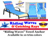 """Towel Anchor - Keep your towel anchored to your chair! - """"Riding Waves"""""""