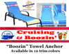 """Towel Anchor - Keep your towel anchored to your chair! - """"Boozin"""""""