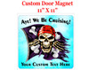 "Cruise Ship Door Magnet - 11"" x 11"" - pirate 2"