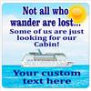 """Cruise Ship Door Magnet - 11"""" x 11"""" - wander 1"""