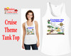 Cruise theme tank top - Cruising the Caribbean