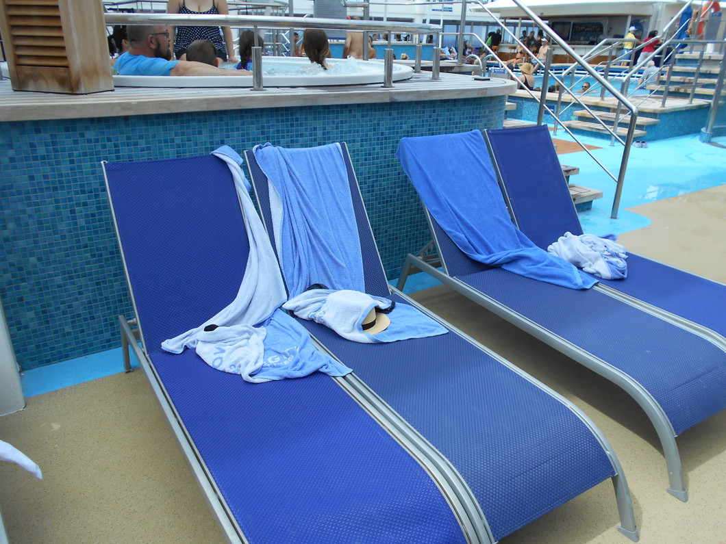 Chair hogging at the pool