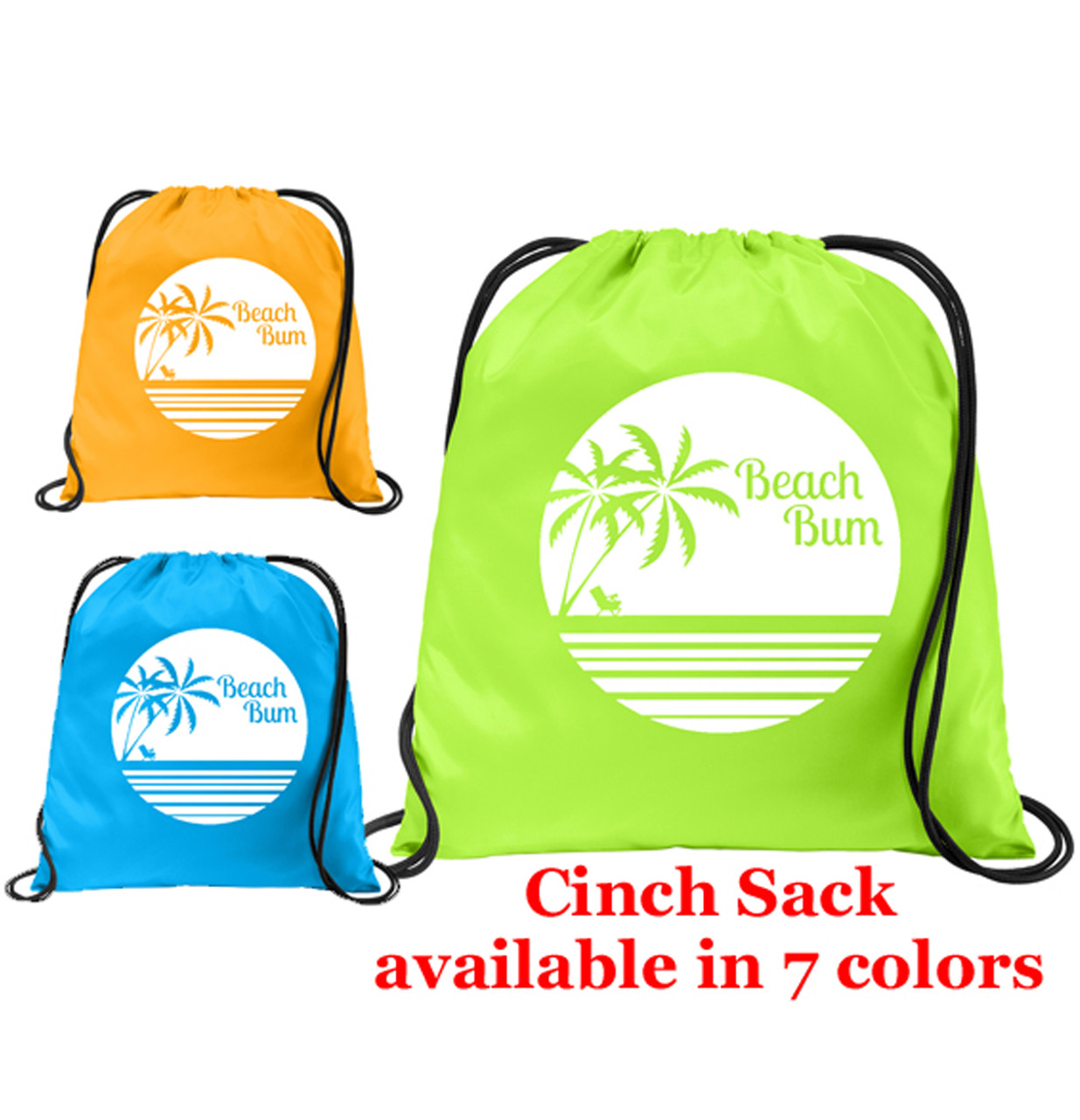 Great for carrying all of your essential  items on board and in the ports. Custom with your text Cruise Cinch Sack Back Pack