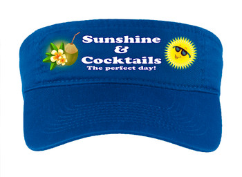 Cruise Visor - Choice of visor color with full color art work -Sunshine