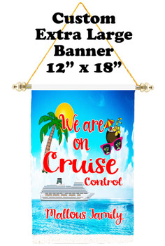 Cruise Ship Door Banner - Extra-Large Banner  with your custom text
