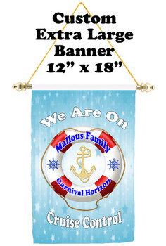Cruise Ship Door Banner - Extra-Large Banner  with your custom text available