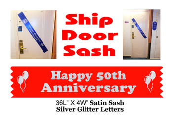 Cruise Door Sash with glitter letters