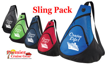 Cruise Sling Pack. Large sling pack to carry all of your gear on the ship and in the ports. (design 002)