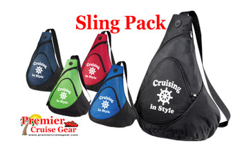 Cruise Sling Pack.  Large sling pack to carry all of your gear on the ship and in the ports. (design 003