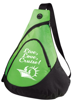 Cruise Sling Pack.  Large sling pack to carry all of your gear on the ship and in the ports. (design 005