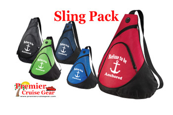 Cruise Sling Pack.  Large sling pack to carry all of your gear on the ship and in the ports. (design 006