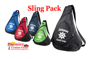 Cruise Sling Pack. Custom Large sling pack to carry all of your gear on the ship and in the ports.  Custom with your name