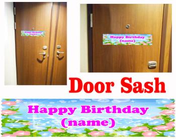 Cruise cabin custom door sash - Birthday 001