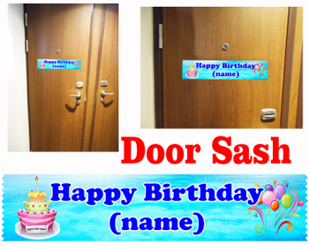 Cruise cabin custom door sash - Birthday 002