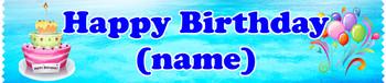 Cruise cabin custom door sash - Birthday 002