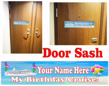 Cruise cabin custom door sash - Birthday 003