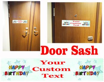 Cruise cabin custom door sash - Birthday 004