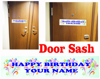 Cruise cabin custom door sash - Birthday 005