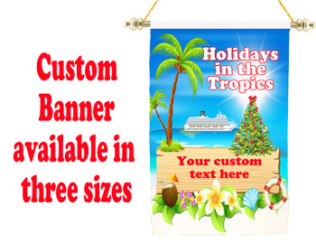 Cruise Ship Door Banner -  available in 3 sizes.      Holiday 4