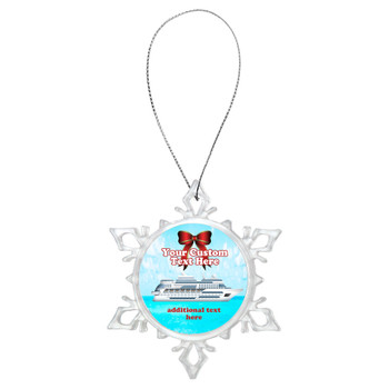 Cruise ornament.  Commemorate your cruise with this custom ornament.  Design 002