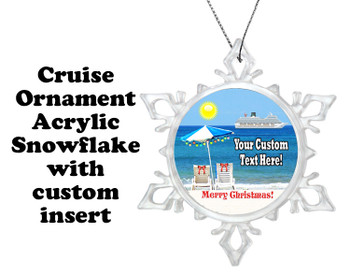Cruise ornament.  Commemorate your cruise with this custom ornament.  Design 003