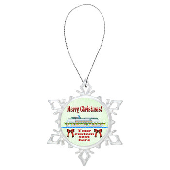 Cruise ornament.  Commemorate your cruise with this custom ornament.  Design 004