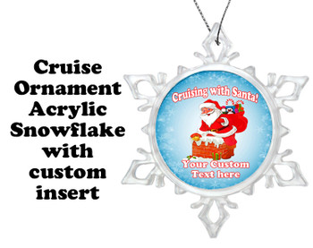 Cruise ornament.  Commemorate your cruise with this custom ornament.  Design 006