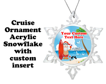 Cruise ornament.  Commemorate your cruise with this custom ornament.  Design 007