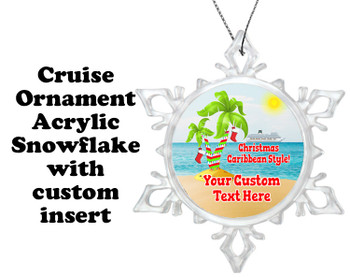 Cruise ornament.  Commemorate your cruise with this custom ornament.  Design 008