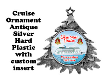 Cruise ornament.  Commemorate your cruise with this custom ornament.  Tree.  Design 001