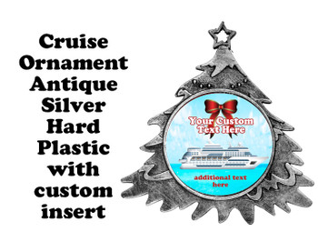 Cruise ornament.  Commemorate your cruise with this custom ornament.  Tree.  Design 002